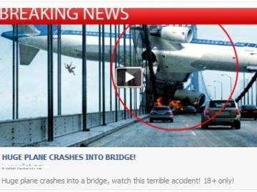 Picture about Huge Plane Crashes Into Bridge Video