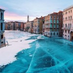 Picture Showing Frozen Venice