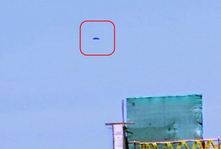 Picture about Purple UFO Filmed by Television Crew in Lima, Peru