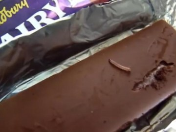 Picture of Worms Found in Dairy Milk Silk Chocolate