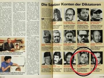 Picture about Rajiv Gandhi Holds 2.5 Billion in Swiss Bank - Swiss Magazine Schweizer Illustrierte