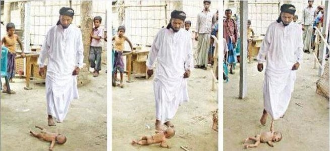 Picture about ISIS Cleric Publicly Crushes Christian Baby of Family Who Refused to Convert to Islam