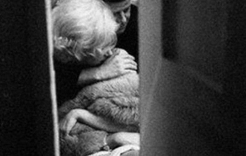 Picture of John F. Kennedy and Marilyn Monroe's Intimate Moment