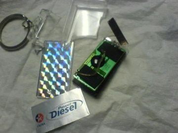 Picture of Free Key Holders Given at Petrol Stations have Secret Tracking Device Hoax