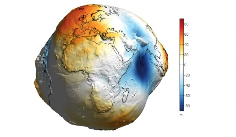Picture of What the Earth would Look Like Without Water