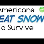 Picture Suggesting Americans Live Today by Eating Birds and Snow