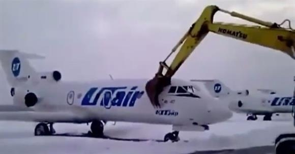 Picture Suggesting Russian Airport Worker Destroys Plane After Getting Fired