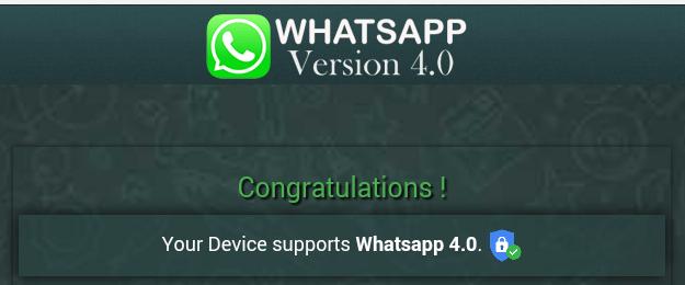 Picture of WhatsApp Version 4.0 Download Invite Message