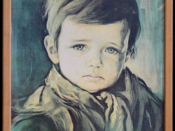 Picture about The Crying Boy Painting Cursed