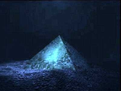 Picture about Giant Crystal Pyramid Discovered in the Center of Bermuda Triangle