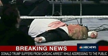 Picture Suggesting Donald Trump Died of Violent Heart Attack