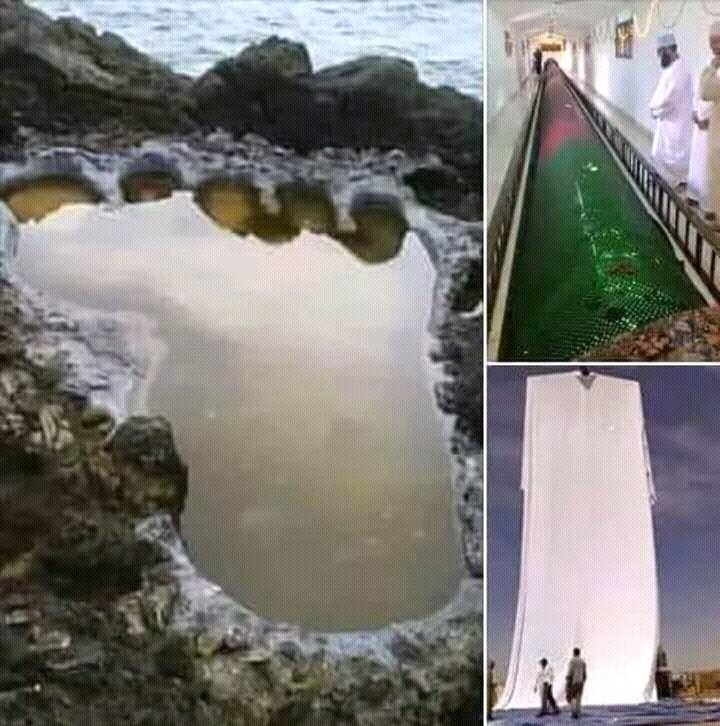 Image about Picture Showing Tomb, Feet and Cloak of Prophet Adam