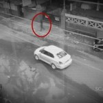 Picture Suggesting CCTV Captures Ghost Crossing Busy Road in an Indian City
