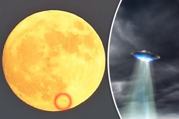 Picture about Spectacular Footage Shows UFO Flying Past Supermoon 2016