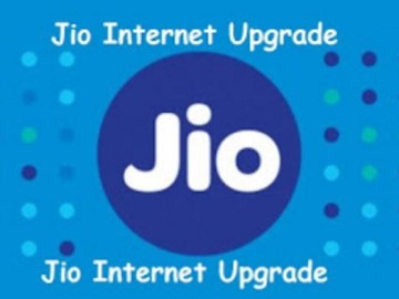 Picture Suggesting Jio Unlimited Internet Upgrade till 31st December 2017
