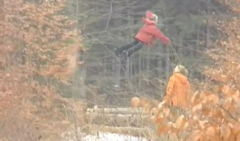 Flying Girl Caught on Video in Russian Wood: Hoax
