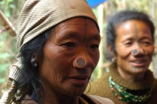Picture of Apatani Tribe Women with Nose Plugs