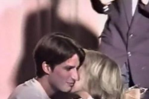 Picture of 15 Year Old Emmanuel Macron Kissing Brigitte Trogneux