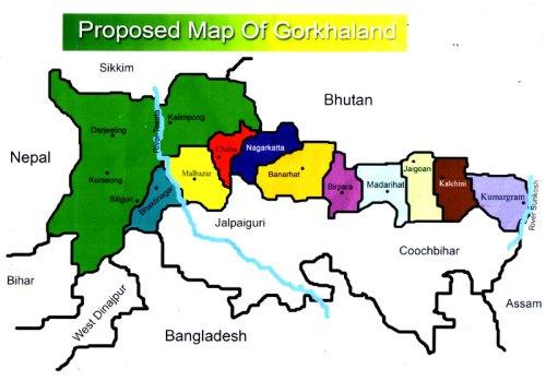 Proposed Map of Gorkhaland