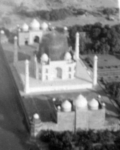 Aerial Picture of Protected Taj Mahal