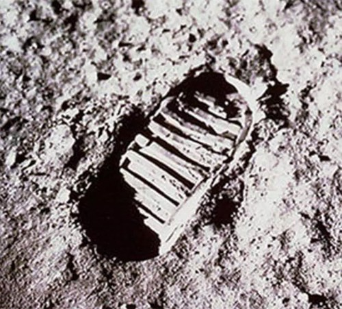 Picture of Neil Armstrong's First Footprints on Moon