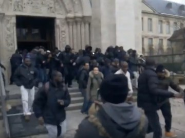 Alleged Image of Muslim Immigrants Attack Saint-Denis Church in France