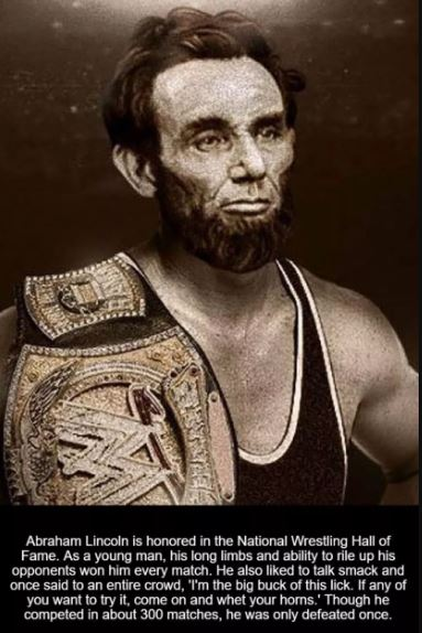 Image about Abraham Lincoln Wrestler Inducted into WWE Hall of Fame