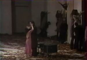 Screenshot from German Stage Performance of Pina Bausch called Blaubart