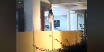 Image about Real Ghost Climbing Hospital Pillar in India CCTV Video