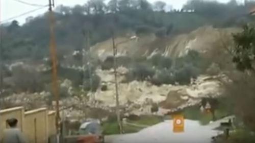 Image of Massive Landslide in Southern Italy
