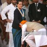 Image about Manmohan Singh Touching Sonia Gandhi's Feet, Photograph