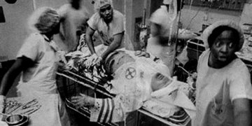 Alleged Photograph of Black Physicians Saving KKK Member