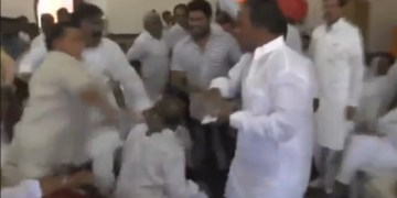 Image about Ramkishore Saini, a BJP Candidate Beaten Badly in Public