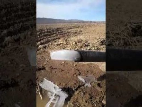 Image about Ice Cubes Coming Through Water Pipe in Adilabad, Video