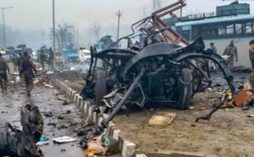 Image of Terrorist Attack in Pulwama