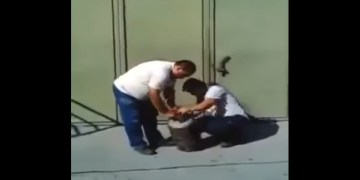 Image about 2 Guys Blast Shaking Cylinder with Gas, Video