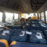 Image about EVMs in School Bus - BJP, Election Commission Rig Elections