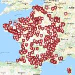 Image about Map Showing Attacks on Catholic Churches in France