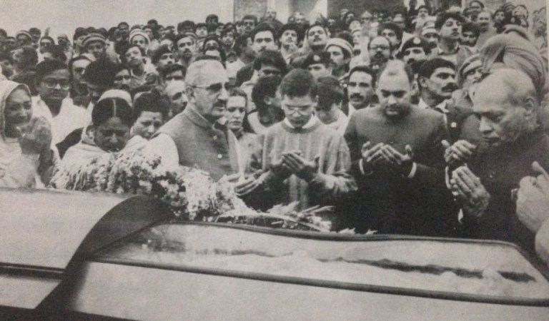 Rahul and Rajiv Gandhi's Islamic Prayers at Indira's Funeral: Fact Check