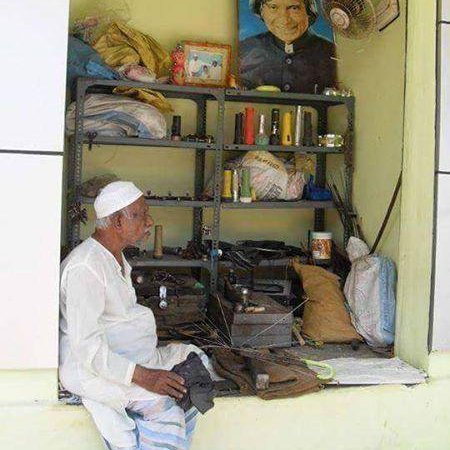 Abdul Kalam's Brother's Umbrella Repair Shop, Picture: Fact Check