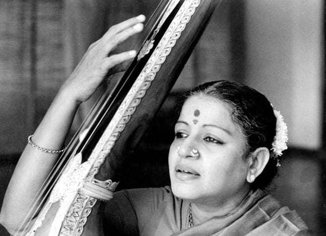 Image of MS Subbulakshmi, world-renowned Carnatic singer