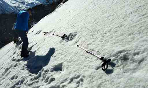 Image about Mythical Beast Yeti Footprints Found by Indian Army