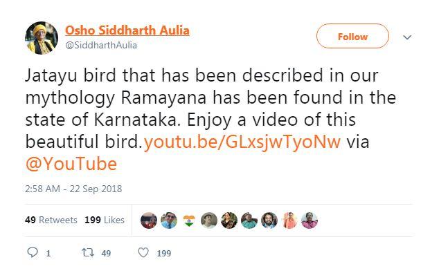 Screenshot of video story about Jatayu bird found in Karnataka