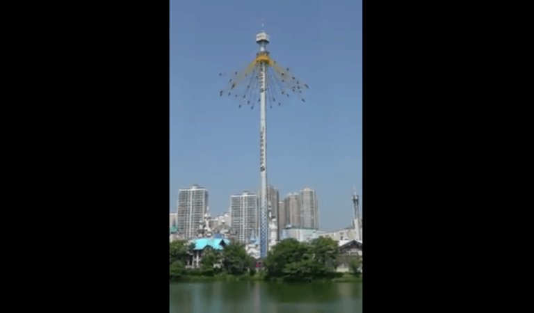Gyro Drop Tower Got Twice Higher & Scarier in Korea, Video: Fact Check