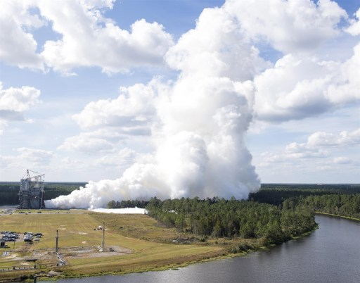 Image of Rocket Engine test at NASA's Stennis Space Center in Mississippi