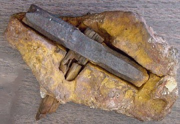 Image about 400 Million Year Old London Hammer Discovered Inside Rock