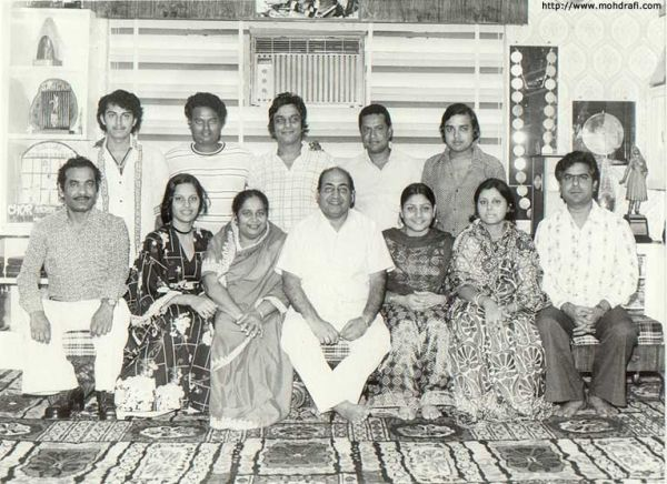 Family photograph of Mohammed Rafi