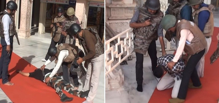 Video of Terrorist Attack at Maa Ambaji Temple in Gujarat: Fact Check