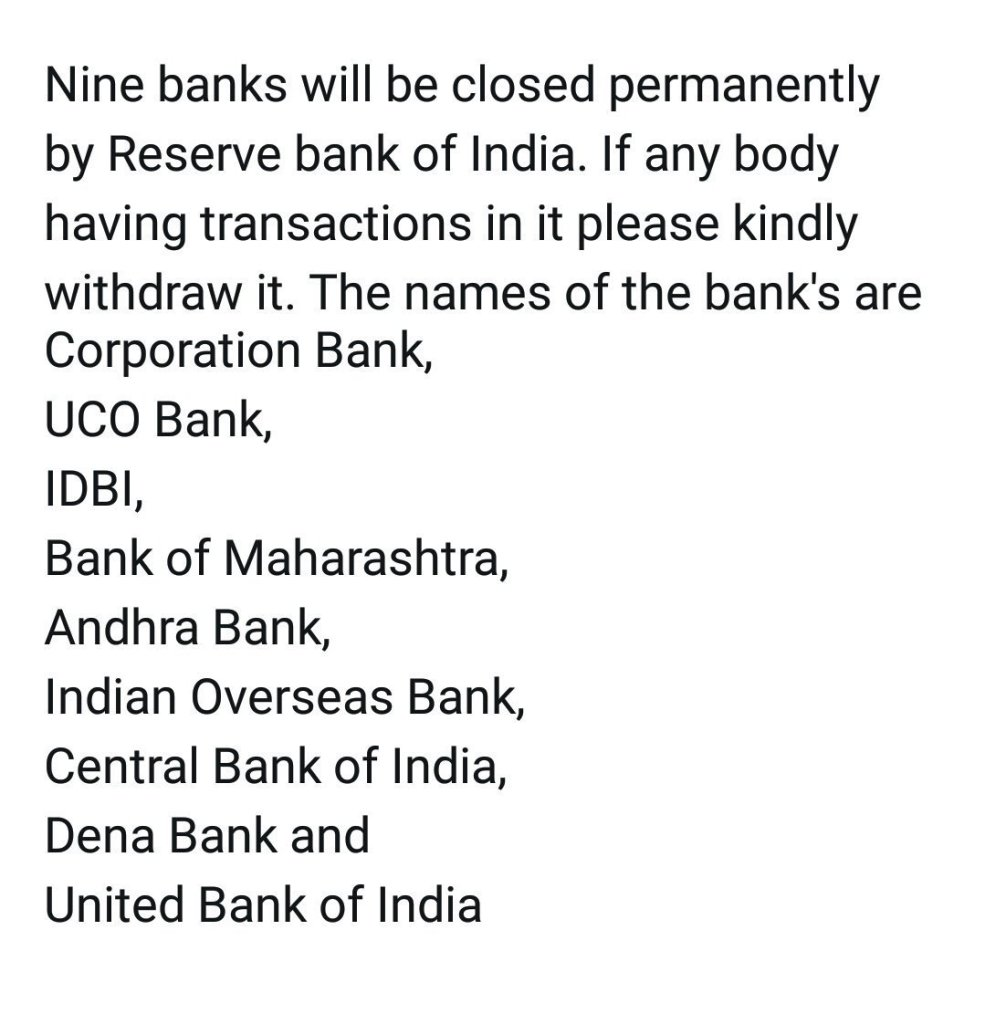 Image about RBI Shutting Down 9 Commercial Banks in India