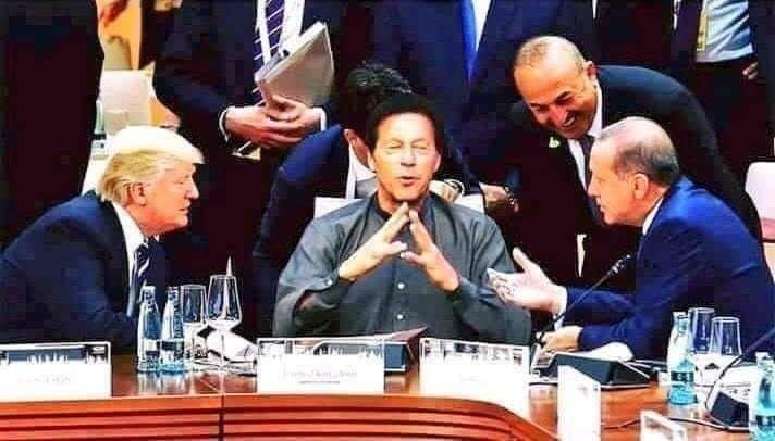 Global Leaders Surrounding Pak PM Imran Khan, Picture: Fact Check